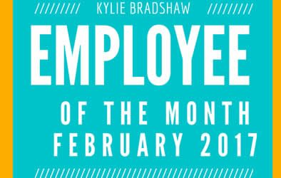 Kylie is our Employee of the Month