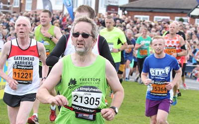 Very well done John with the Great North Run