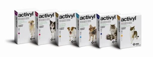 Activyl flea drops in boxes