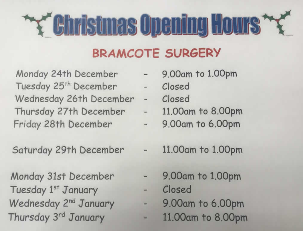 ashfield house vets christmas opening times