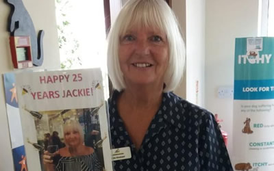 Our lovely Receptionist Jackie has retired