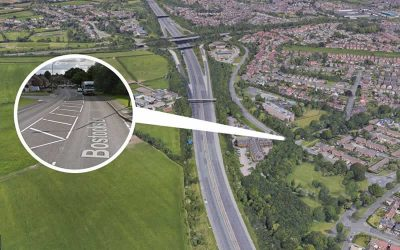 Roadworks close to M1 in Long Eaton
